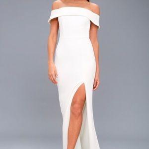 Aveline off-the-shoulder maxi dress